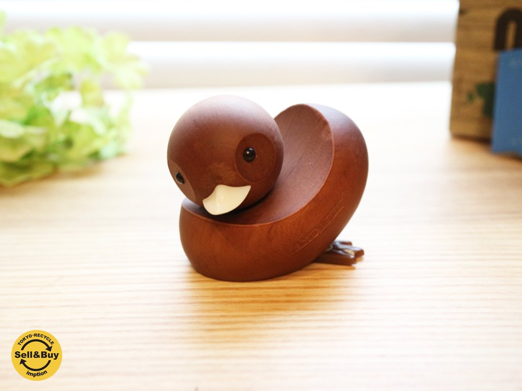 ロイヤルペット ROYALPET オシドリ 鳥 MANDARIN DUCK 木製玩具 箱付 ◎