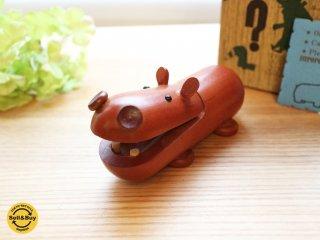 ロイヤルペット ROYALPET カバ HIPOPOTAMUS  木製玩具 箱付 ◎