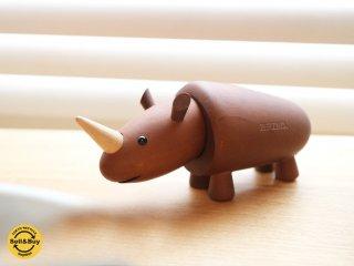 ロイヤルペット ROYALPET サイ RHINOCEROS 木製玩具 箱付 ◎