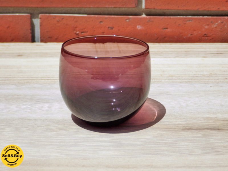 ヌータヤルヴィ Nuutajarvi マルヤ カクテルグラス Marja Cocktail Glass サーラホペア デザイン Saara Hopea パープル ●