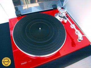 TEAC ティアック レコードプレーヤー ターンテーブル TN-300 限定カラー:スカーレット PC接続が可能 美品 元箱付 ★