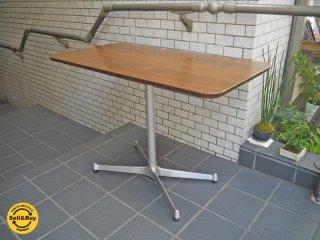 モモナチュラル Momo natural カフェテーブル rectangle top × XR LEG SILVER ウォールナット材天板 Xレッグ 高さ60cm■