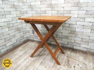 ウニコ unico トラッド TRAD フォールディングテーブル チーク無垢材 ●