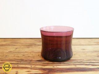 イッタラ iittala i-104 ドリンキング グラス Drinking glass ビンテージ ティモ・サルパネヴァ パープル B ◎