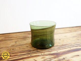 イッタラ iittala i-104 ドリンキング グラス Drinking glass ビンテージ ティモ・サルパネヴァ レアカラー グリーン A ◎