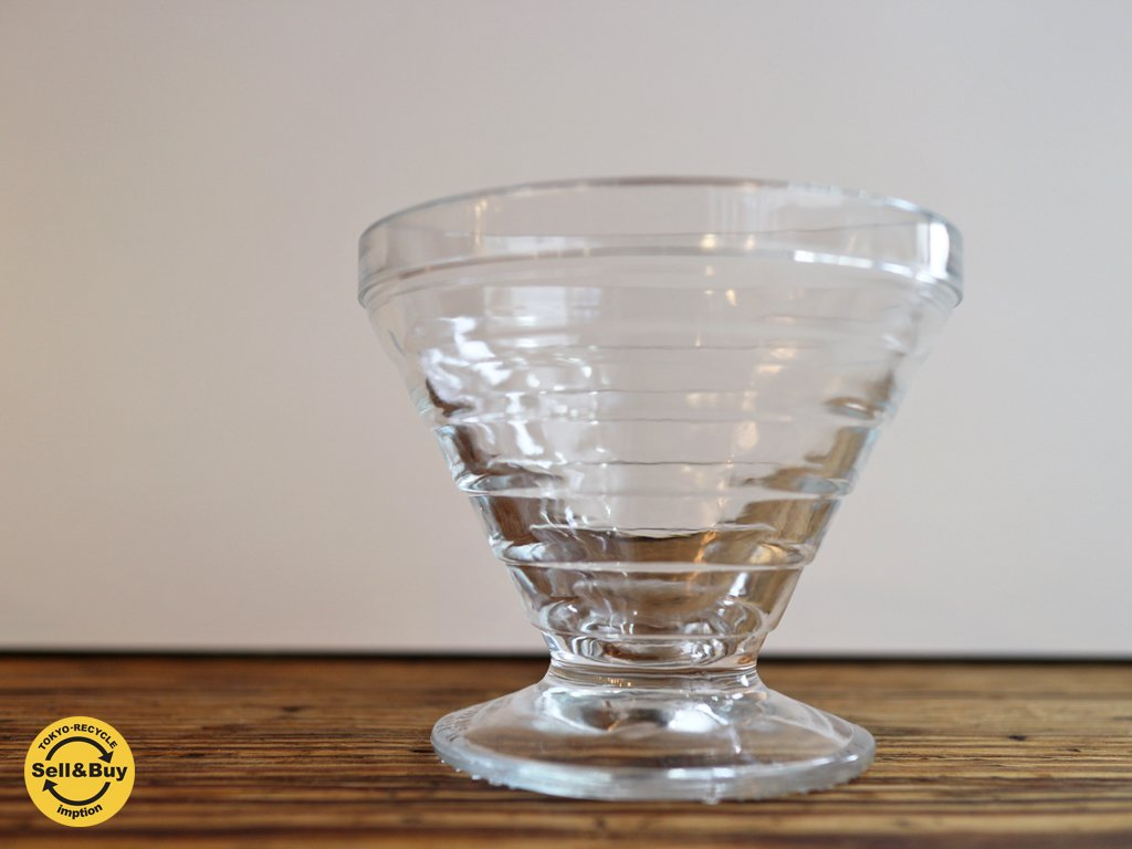 リーヒマエンラシ Riihimaen Lasi アイノ アアルト ガラス製 ゴブレット グラス クリア 北欧 フィンランド 希少 A ◎
