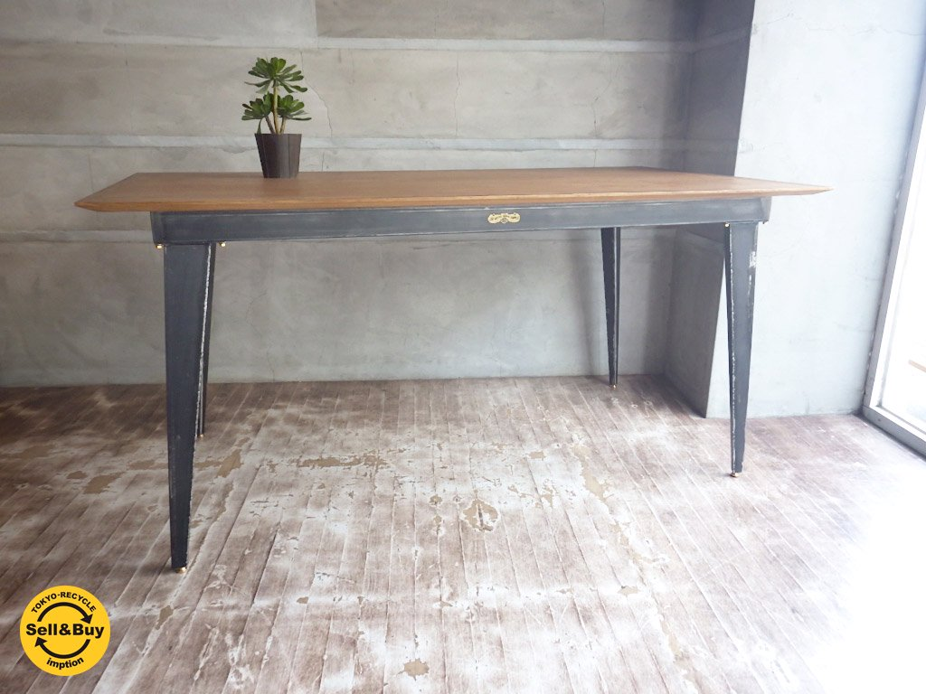 ジャーナルスタンダード ファニチャー journal standard furniture クリスティ CHRYSTIE ダイニングテーブル 展示品 インダストリアルな作業台としても♪