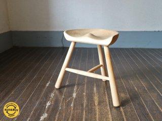 ワーナー Werner シューメーカースツール シューメーカーチェア Shoemaker stool chair 3本脚 キッズチェア ブナ材 デンマーク ◎