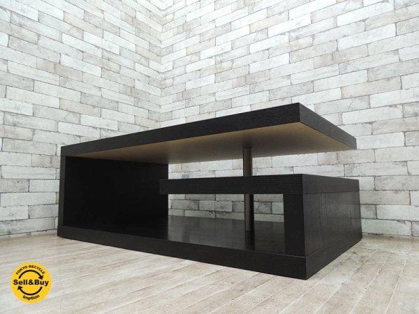 ボーコンセプト BoConcept コーヒーテーブル オッカ Occa 4600 ブラック ガラストップ リビングテーブル ローテーブル デンマーク 北欧家具 アーバンダニッシュデザイン ◇