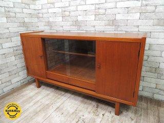 日本のヴィンテージ家具 チーク材 サイドボード キャビネット w150cm 北欧ヴィンテージスタイル ●