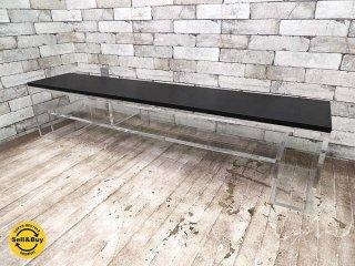 アボード abode ショージ SHOJI オケージョナルテーブルL クリア アクリル ブラック天板付 AVボード ●