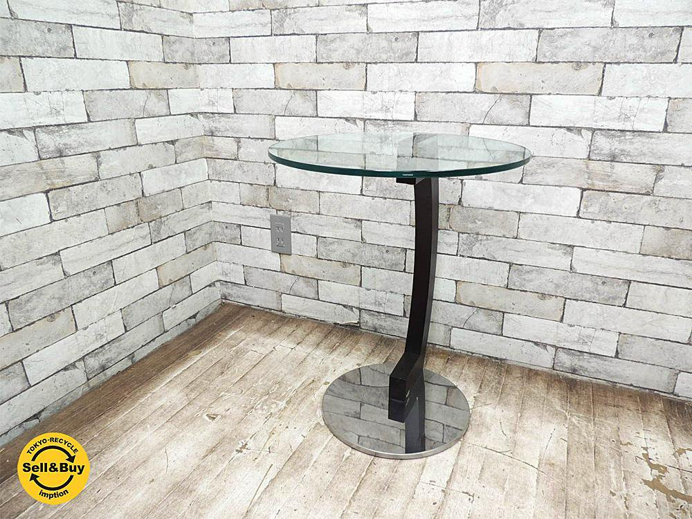 カッテラン イタリア cattelan italia サイドテーブル ZEN ガラス天板 モダンデザイン ●