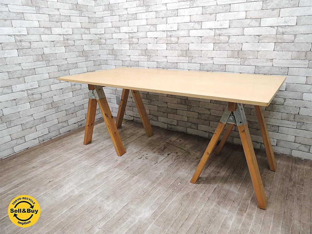 パシフィックファニチャーサービス P.F.S 木製 ワークテーブル アトリエテーブル ●
