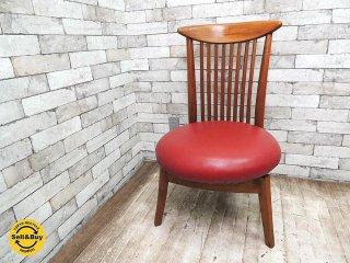 BC工房 だんらんかろやか椅子 チーク無垢材フレーム ダイニングチェア ラウンジチェア 回転式シート B ●