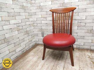 BC工房 だんらんかろやか椅子 チーク無垢材フレーム ダイニングチェア ラウンジチェア 回転式シート A ●