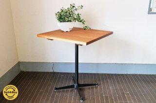 ウォールナット無垢材×スチール カフェテーブル ◎