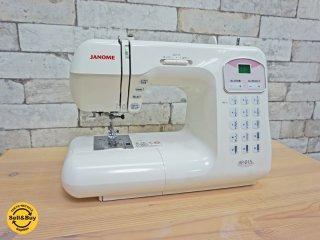 ジャノメ JANOME コンピューターミシン KP-215 取扱説明書付き 定価14万円 ●