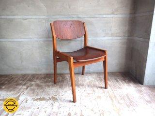 天童木工 TENDO ビンテージ ブックチェア 図書館椅子 ダイニングチェア チーク材  水之江忠臣 ♪