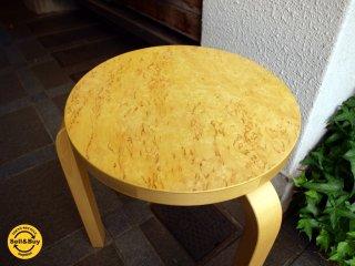 アルテック artek スツール60 stool60 3本脚 アルヴァ アアルト 70周年記念 カーリーバーチ ナチュラル ★