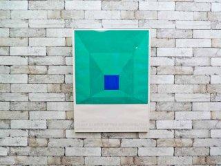 ジョセフ・アルバース Josef Albers AT THE METROPOLITAN MUSEUM OF ART NOV19 1971-JAN9 シルクスクリーン ポスター 額装 ●