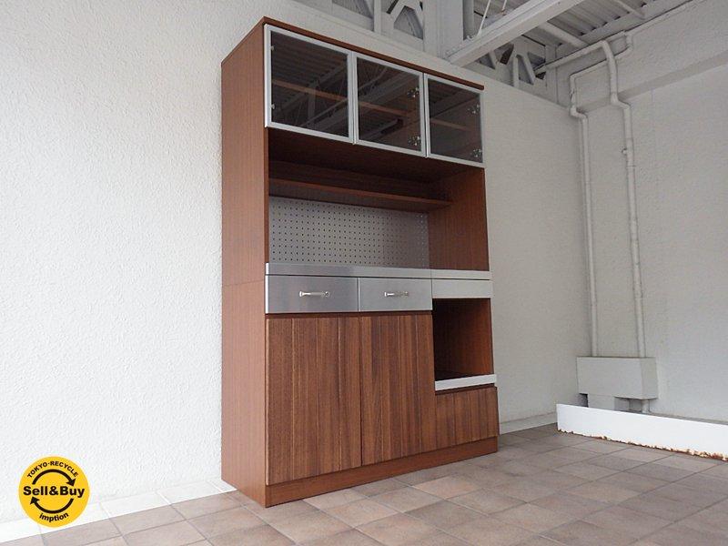 ウニコ unico ストラーダ STRADA キッチンボード W1200 ( カップボード 食器棚 レンジボード ) 現行品 定価:16.4万! ◇