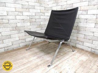 フリッツハンセン FRITZ HANSEN PK22 イージーチェア ラウンジチェア 本革張り ポール・ケアホルム 北欧家具 名作椅子 ●