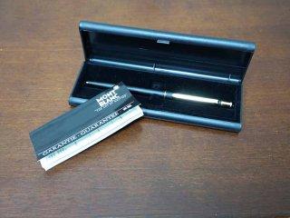 モンブラン MONTBLANC ブラックノブレス シャープペンシル 0.5mm W.GERMANY ケース付き ●