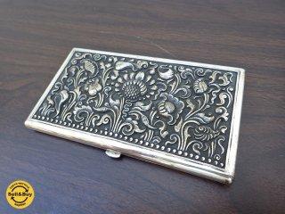 ヴィンテージ シガレットケース タバコケース 銀メッキ ショートサイズ用 ●