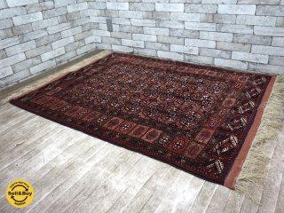 ペルシャ絨毯 トルクメン産 ラグ 絨毯 W170×D113 ●