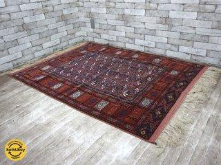 ペルシャ絨毯 トルクメン産 ラグ 絨毯 W183×D116 ●