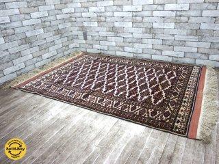 ペルシャ絨毯 トルクメン産 ラグ 絨毯 W200×D102.5 ●
