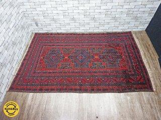 ペルシャ絨毯 オールドトルクメン ラグ 絨毯 W294×D159 ●