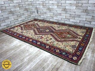 ペルシャ絨毯 グーチャン産 ラグ 絨毯 W205×D124 ●