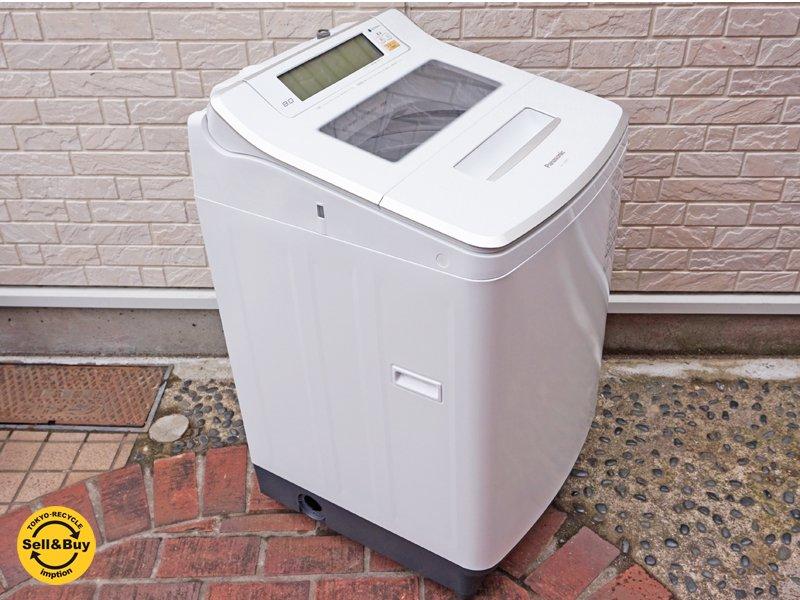パナソニック Panasonic Jコンセプト 全自動洗濯機 エコナビ搭載 8kg 2016年製 NA-JFA802S ●