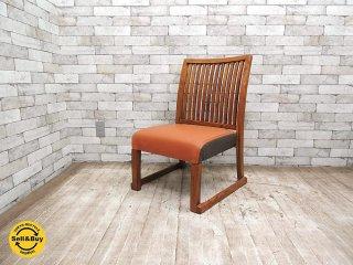 BC工房 おたすけきらきら椅子 C チーク無垢材フレーム スタッキングチェア パンチング 低座椅子 和室でも使える ●