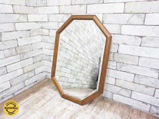 マルニ木工 maruni ウォールミラー 鏡 八角 ブナ無垢材 ●