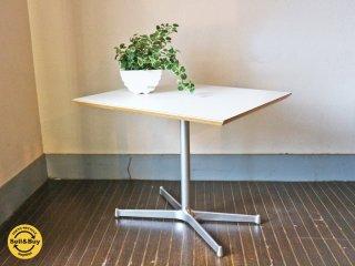 ディーアンドデパートメント D&DEPARTMENT  カフェテーブル Cafe Table  クロームメッキ X脚 ◎