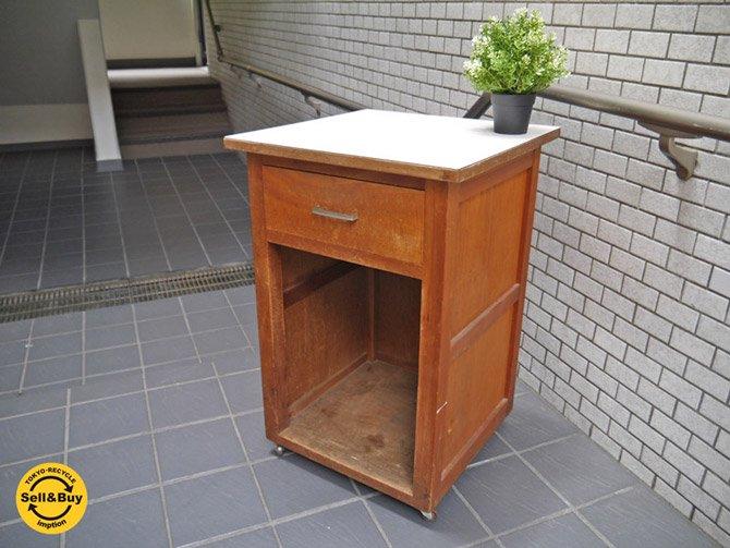 ジャパンビンテージ ミニキャビネット 木製 レトロ家具 木味家具 ■