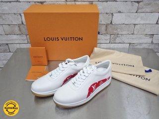 シュプリーム × ルイ・ヴィトン Supreme × Louis Vuitton スポーツスニーカー Sport Sneaker ホワイト×レッド 約27cm 未使用品 ●