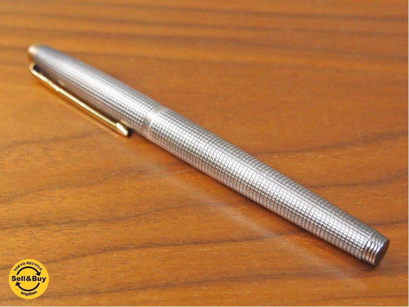 パーカー PARKER 万年筆 パーカー75 シズレ スターリングシルバー ペン先14K ビンテージ ■