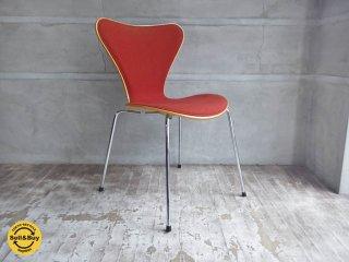 フリッツ ハンセン Fritz Hansen セブンチェア Seven chair フロントパディング オレンジ アルネ・ヤコブセン ♪