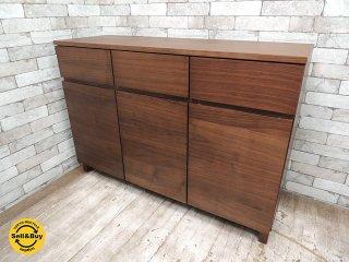 無印良品 MUJI ウォールナット 木製キャビネット サイドボード ★