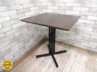 エーフラット a.Flat カフェテーブル ロースタイルなテーブル 木製天板 鉄脚 アジアン家具 ●