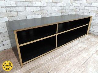 シボネ CIBONE テレビボード AVボード テレビ台 W150cm 積層合板 モノトーンブラック モダンデザイン ●