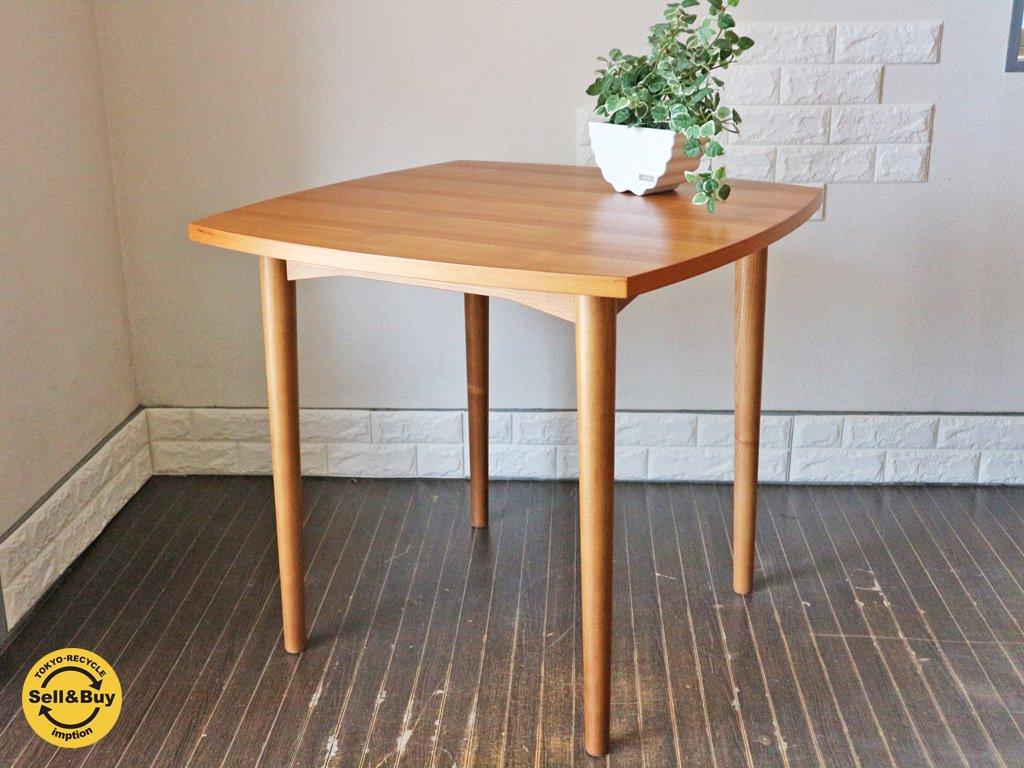 ウニコ unico ホルム HOLM ダイニングテーブル チーク材 北欧テイスト W80 ◎