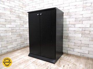 日本ビクター Victor JVC キャビネット ブラック 書棚 収納棚 両開き ●