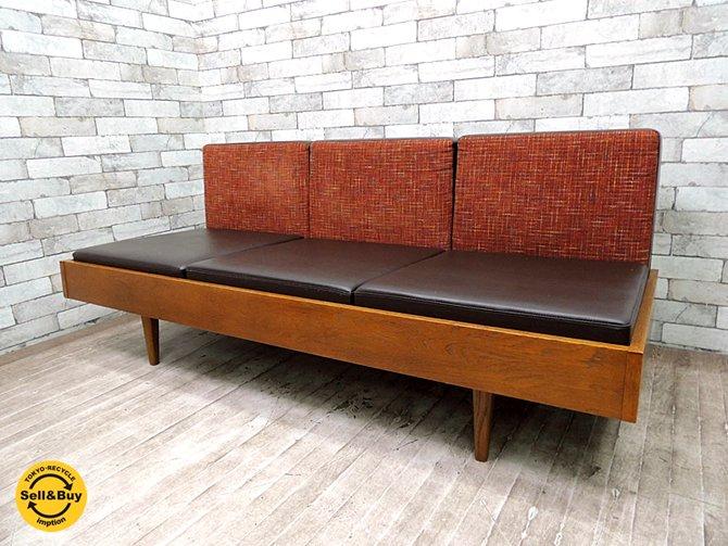 パシフィックファニチャーサービス Pacific furniture service ( P.F.S ) クラブシックス CLUB 6 ソファ 3シーター オーク材 ●
