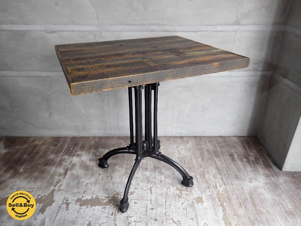インダストリアル スタイル アイアン 古材 カフェテーブル B ♪