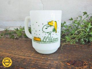 ファイヤーキング FIRE KING スヌーピー フレンチトースト Snoopy french toast ヴィンテージマグカップ アンカーホッキング ♪
