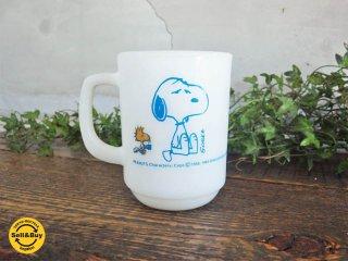 ファイヤーキング FIRE KING スヌーピー コーヒーブレイク Snoopy coffee break ヴィンテージマグカップ アンカーホッキング ♪